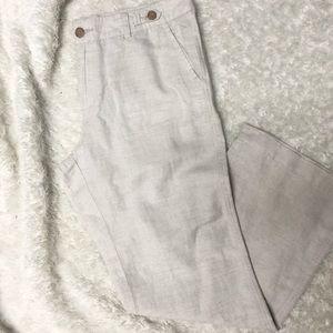 Banana Republic Tan Linen Pants